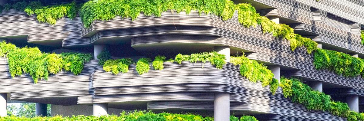 Sehr grünes Gebäude